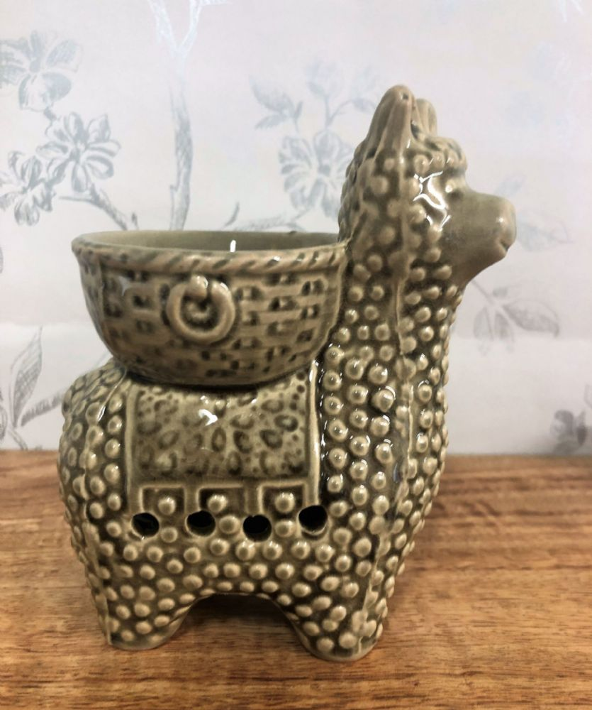 Grey Ceramic Llama Oil | Wax Melt Burner